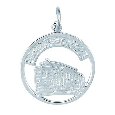 Sterling Silver San Francisco Trolly in Disc Charm