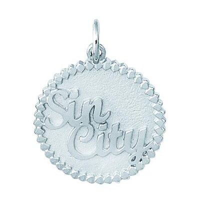 Sterling Silver Sin City Disc Charm