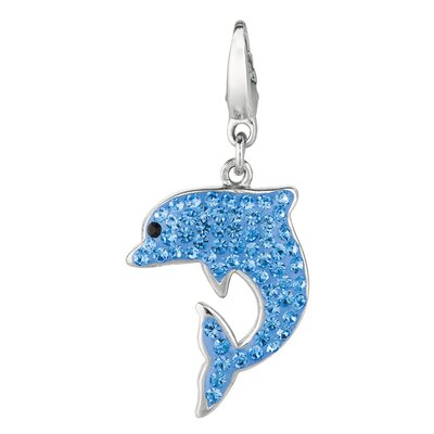 Crystal Dolphin Charm with Swarovski Elements
