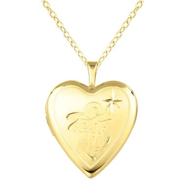 Angel Heart-Shaped Locket Necklace
