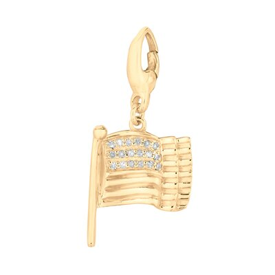 EZ Charms Diamond American Flag Charm