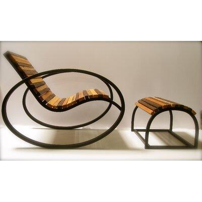 Shiner International Pant Rocking Chair and Ottoman