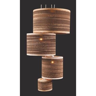 Shiner International Corrugated 1 Light Drum Pendant