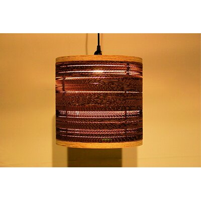 Shiner International Corrugated 1 Light Drum Pendant
