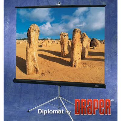 Draper Glass Beaded Diplomat Portable Screen - 6'  diagonal NTSC Format