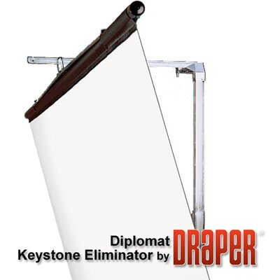 Draper High Contrast Grey Diplomat Portable Screen - 7' diagonal NTSC Format