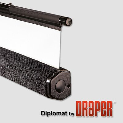 "Draper Matte White Diplomat / R Portable Screen - 72"" x 96"" diagonal AV Format"