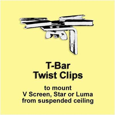 Draper T-Bar Twist Clips