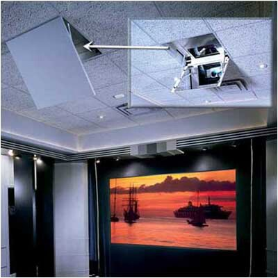Revelation motorized ceiling recessed projector mount for Motorized ceiling projector mount