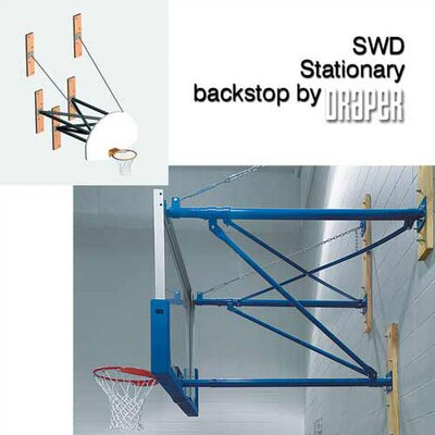 Draper SWD Stationary Basketball Backstop with Direct Goal Attachment