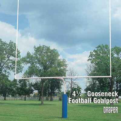"Draper 4-1/2"" Gooseneck Football Goalposts"