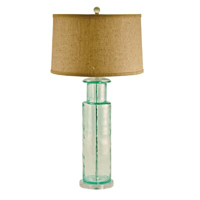 Lamp Works Recycled Glass Cylindrical Table Lamp in Green