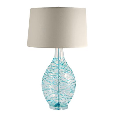 "Lamp Works Glass Hand Blown 31"" H Table Lamp with Empire Shade"