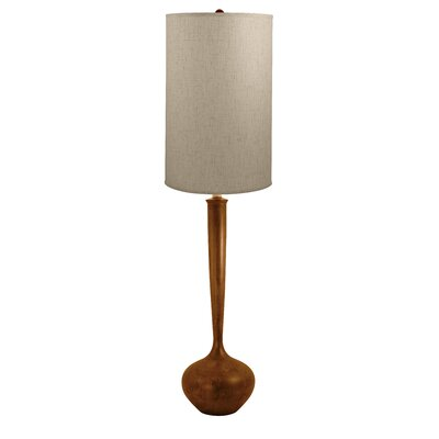 Lamp works wood tulip floor lamp reviews wayfair for Wayfair wood floor lamp