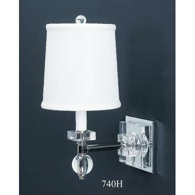 dainolite jos 7 2w 2 light crystal wall sconce polished chrome