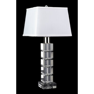 Lamp Works Crystal Beveled Square Table Lamp