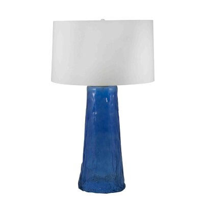 "Lamp Works Waterfall 34"" H Table Lamp with Drum Shade"