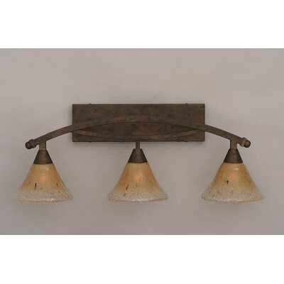 Toltec Lighting Bow 3 Light Bathroom Vanity Light