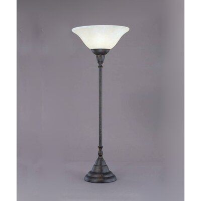 Toltec Lighting Table Lamp with Marble Glass Shade
