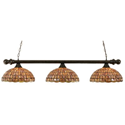 3 Light Round Kitchen Island Pendant