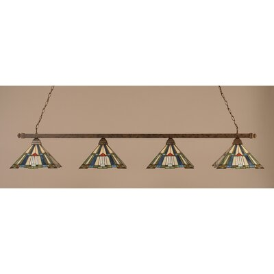 Toltec Lighting Square 4 Light Billiard Pendant