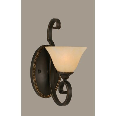 Toltec Lighting Elegante 1 Light Wall Sconce