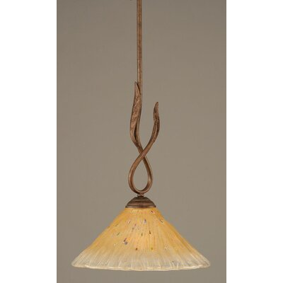 Toltec Lighting Leaf 1 Light Mini Pendant