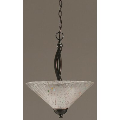Toltec Lighting Bow 2 Light Uplight Inverted Pendant