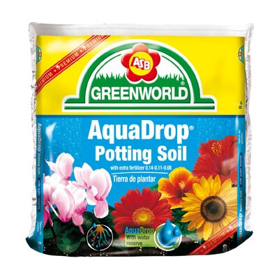 ASB Greenworld AquaDrop, Water Controlled Potting Soil With Nine Month Fertilizer (6/Box)