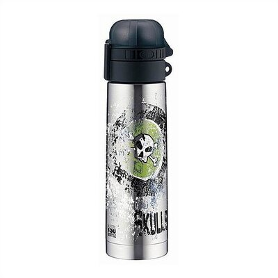 Alfi isoBottle 0.5-Liter Skulls Stainless Steel Thermos