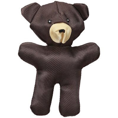 J.W. Pet Company Crackle Heads Canvas Bear Dog Toy