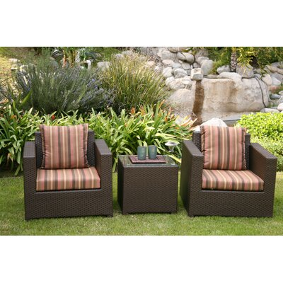 AIC Garden & Casual Metro 3 Piece Deep Seating Group with Cushions