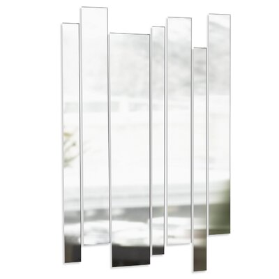 Umbra Strip Mirrored Wall Art in Clear (Set of 7)
