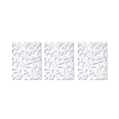 Umbra Arbera Wall Art in White (Set of 3)
