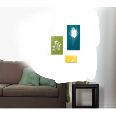 Umbra Garden Glass Wall Decor Tiles (Set of 3)