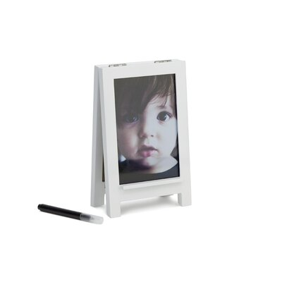 Umbra Fotoboard Wood Picture Frame with Dry-Erase Message Board