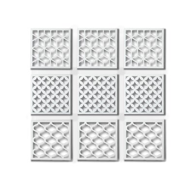 Umbra Geometra Metal Wall Décor Tiles (Set of 9)