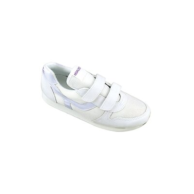 Women's Easy Closing Running Shoe in White
