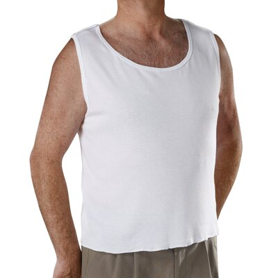Silvert's Men's Snap Open Back Undervest