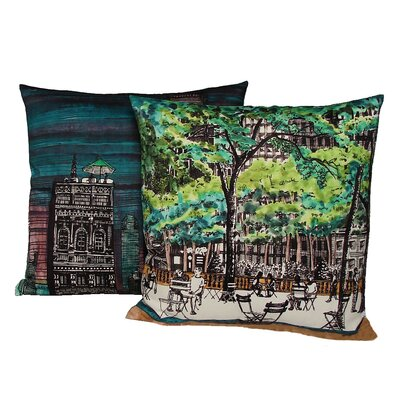 Kevin O'Brien Studio New York Library Double Sided Decorative Pillow