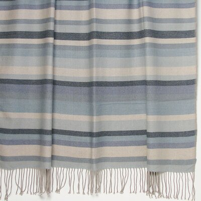 Kevin O'Brien Striped 2-Ply Cashmere / Merino Throw