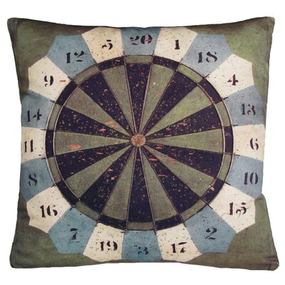 Kevin O'Brien Studio Gameboard Darts Decorative Pillow