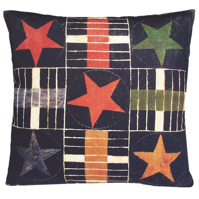 Kevin O'Brien Studio Gameboard Parcheesi Stars Decorative Pillow