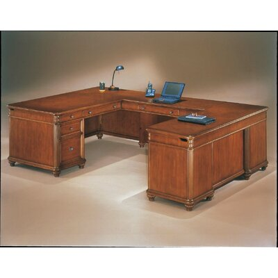 DMI Office Furniture Antigua Executive U-Shape Desk with Right Return