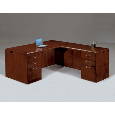 DMI Office Furniture Summit Cope L-Shape Executive Desk with Right Return (Flat Pack)