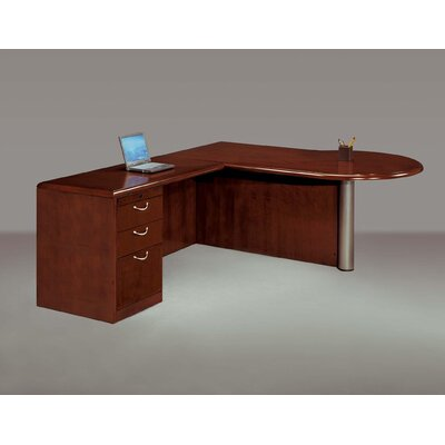 DMI Office Furniture Summit Cope Right Peninsula L-Shape Executive Desk (Flat Pack)