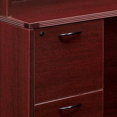 "DMI Office Furniture Fairplex Bow Front U Executive Desk with 36"" Corner Credenza"
