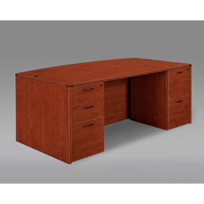 DMI Office Furniture Fairplex Executive Bow Front Desk
