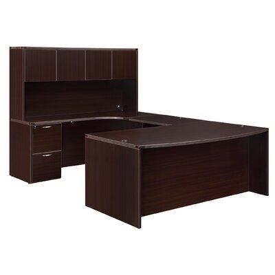 "DMI Office Furniture Fairplex Right ""U"" Desk with Corner Credenza and Hutch"