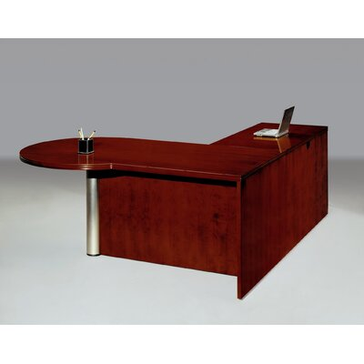 DMI Office Furniture Summit Reed Right Peninsula L-Shape Executive Desk